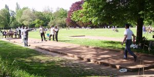 bocce playing