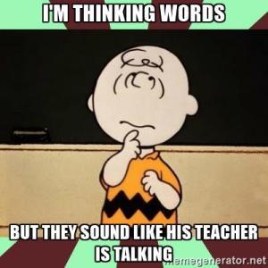 Peanuts' Teacher Talk