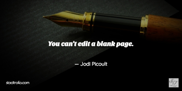 You can't edit a blank page.