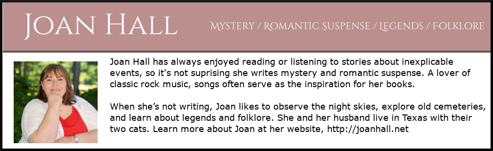 Photo and brief biography of author Joan Hall.